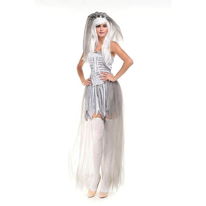 MIAO Costume Di Halloween Cosplay Adulto Corpse A Secco Costume Da Zombie  Sposa Dea Dell  520203b417b9