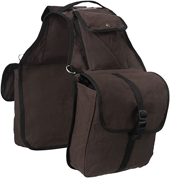 Black Tough1 Horse Tack Canvas English Saddle Carrying Bag Case U--2-0