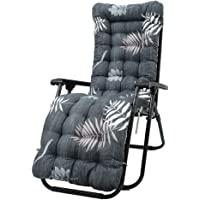 Garden Rocking Chair Cushions Pads 50x120cm Patio High Back Lounger Chair Seat Pads Cushion Thickened Relaxing Soft Replacement Cushion Pads For Garden Sun Lounger Recliner Chair