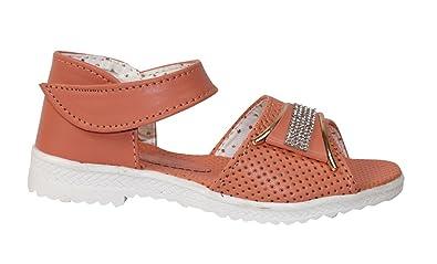 d6a8c81d6bdb Trilokani Orange Girls Sandal  Buy Online at Low Prices in India ...