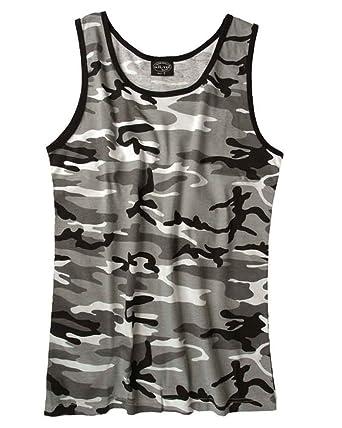 Mil-Tec Camiseta De Tirantes, metro - algodón, Metro, 100% algodón, hombre, S: Amazon.es: Ropa y accesorios