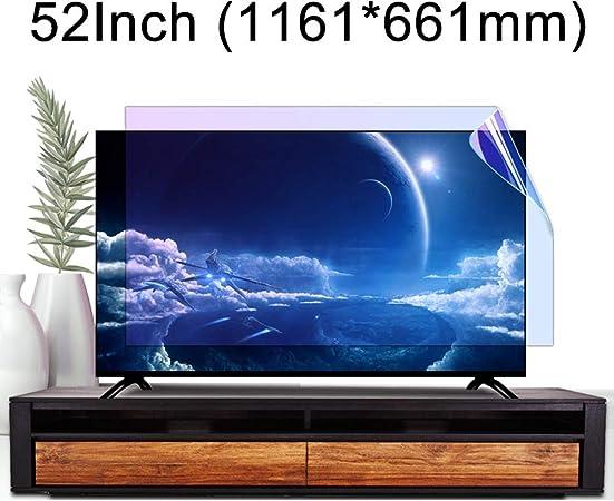 ZSLD Película Protectora De Pantalla De TV Anti Luz Azul De 52 Pulgadas, Filtro Mate Brillante HD Antiarañazos Que Alivia La Tensión Ocular, para LCD LED OLED QLED HDTV: Amazon.es: Hogar