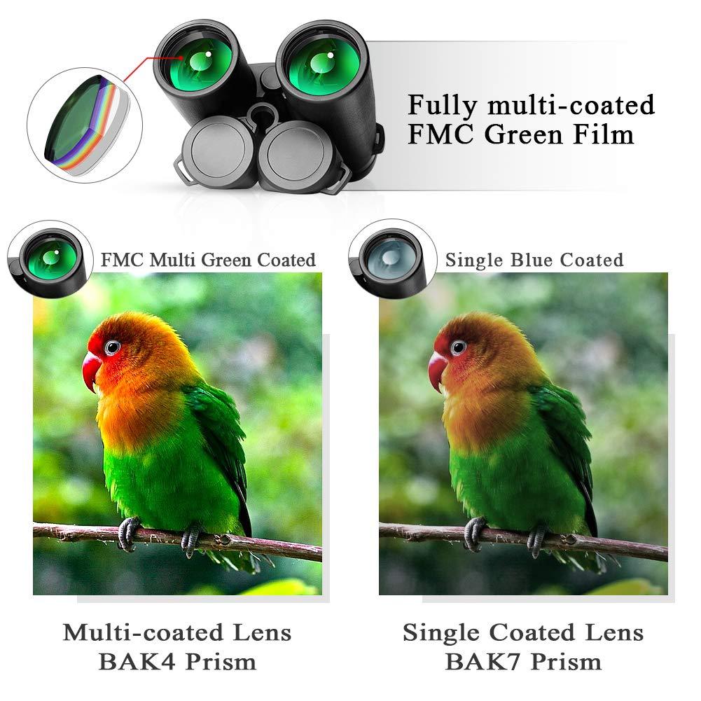 Prismas BaK4 y FMC AYUTOY Prismaticos Profesionales,12x42 HD Prismaticos Vision Nocturna con Adaptador de Tel/éfono Senderismo Astronom/ía y Camping Ideales para Observaci/ón de Aves