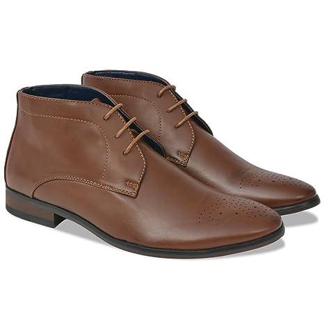 Festnight Zapatos Botines de Hombre de Cordones Talla de 41: Amazon.es: Electrónica