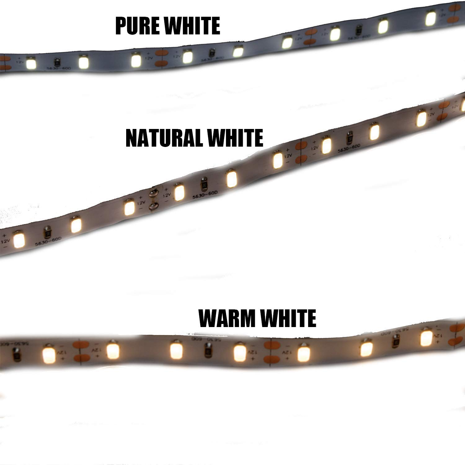 MARSWELL High-quality LED Strip Lights Neutral White 4000K-4500K High CRI 80+ SMD5630 Non-waterproof by Marswell