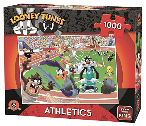 KING KNG05599 Looney Tunes Athletics Puzzle, Red and Black