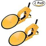 PanelTech Wheel Tire Parking Boot Lock Lawn Tractor Golf Cart ATV RV Trailer Lock Anti Theft (2PCS)