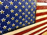 Wooden Rustic Style American Flag w/ Shell Casings (19''x37'')