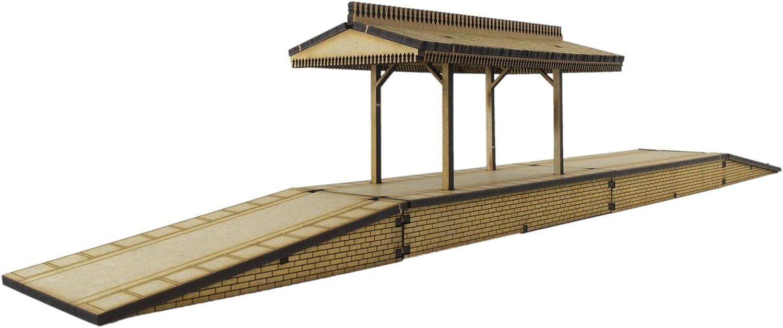 WWS Andén en 2 Plataformas y Techo con rampas Desmontables Escala OO/HO- Modelismo ferroviario en MDF: Amazon.es: Juguetes y juegos