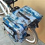 LeKing Enlarged Mountain Bike Camo Saddle Bag 35l MTB Mountain Bike Rack Saddle Bag Multifunction Road Bicycle Pannier Rear Seat Trunk Bag
