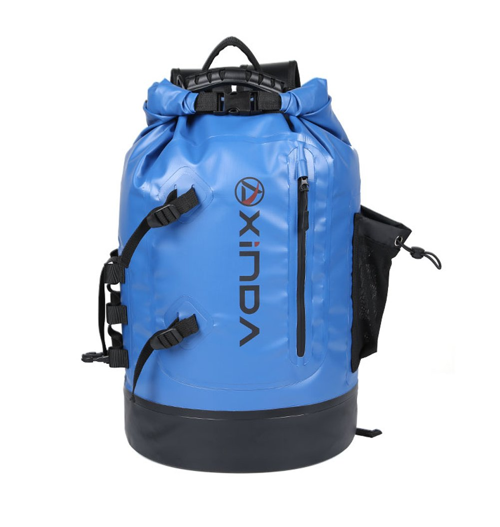 Zowaysoon防水ドライバッグCanyoningバックパック30l Roll Top Shoulder Bag with電話ドライバッグ水泳ボートハイキング用  ブルー B073ZCCB8X