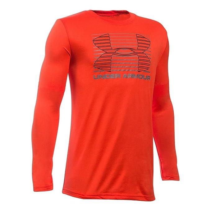 3d8de1d79 Under Armour Kids Boy's Breakthrough Logo Long Sleeve T-Shirt (Big Kids)  Volcano