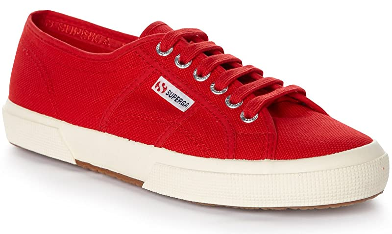 Superga 2750 Cotu Classic Sneakers Low-Top Unisex Damen Herren Rot (Rouge Foncé)