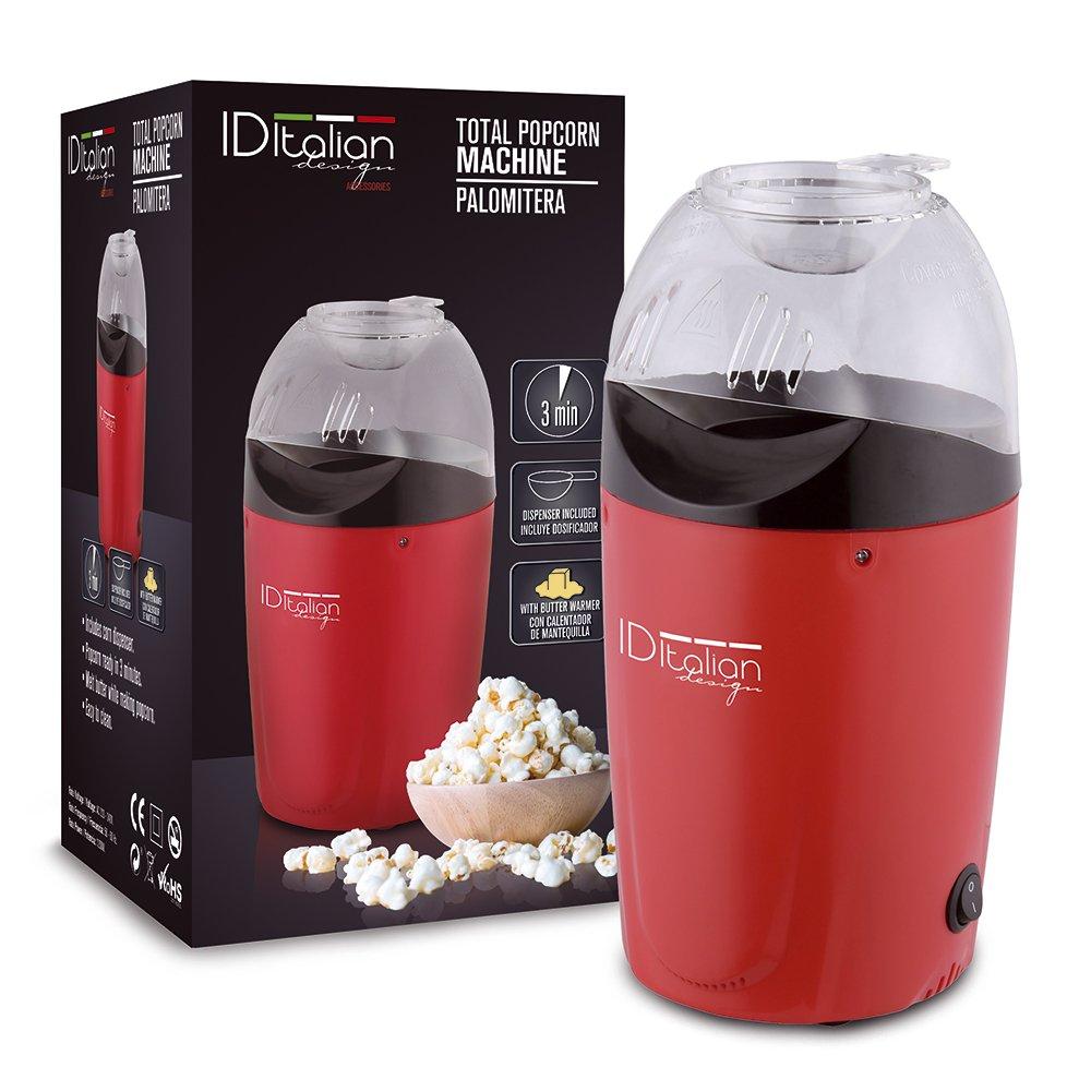 ID Italian IDECUSWEET03 palomitas de maiz poppers Rojo 1200 W - Palomitero (1200 W)