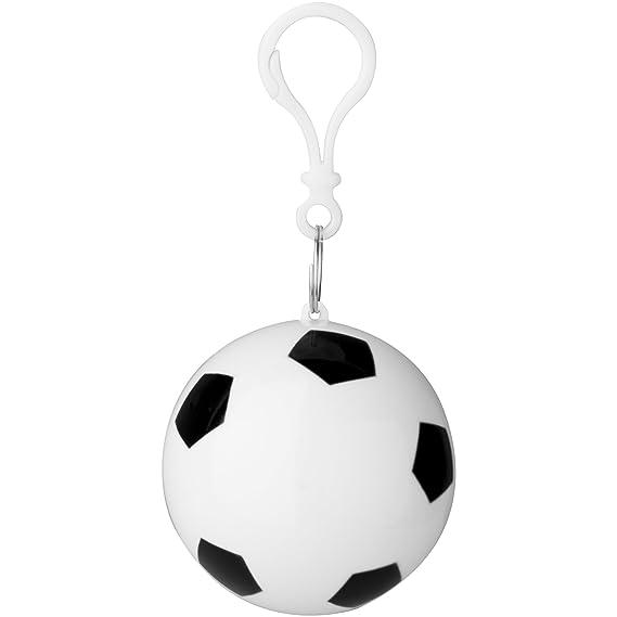 Bullet - Chubasquero poncho modelo Xina en balón de fútbol para adultos (90  x 120cm Blanco Negro)  Amazon.es  Ropa y accesorios a1d99cf199e94