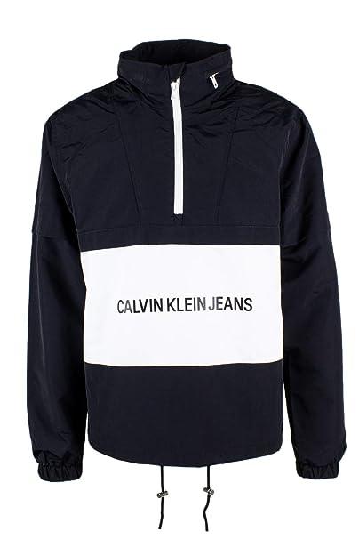Calvin Klein Jeans Institutional Logo Pop Over Chaqueta Cortavientos: Amazon.es: Ropa y accesorios