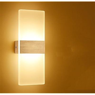 Acrylique led moderne hôtel d'ingénierie salon chambre à coucher toilettes wall lamp,12W black,lumière chaude