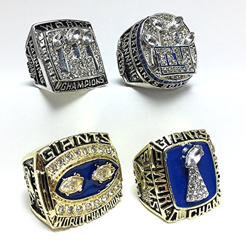 Custom Rings New York Giants Super Bowl 1986 1990 2007 2011 XXI XXV XLII XLVI Ring Set (11)