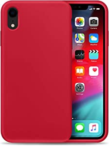 Liquid Silicone Phone Case for Apple iPhone XR/Full Body Protection/Shockproof/Gel Rubber/Cover Case Drop Protection Red