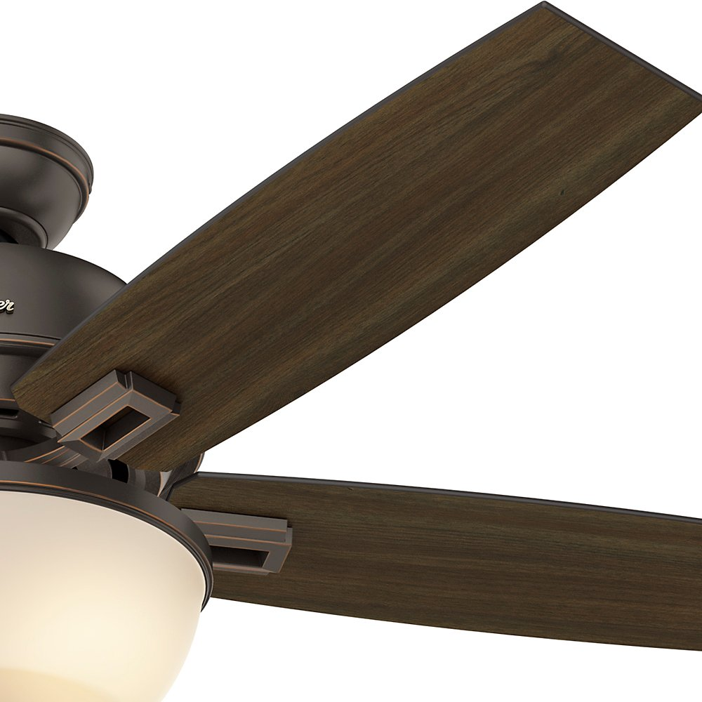 Hunter Fan Company 53333 52 Donegan Onyx Bengal Ceiling Fan with Light White