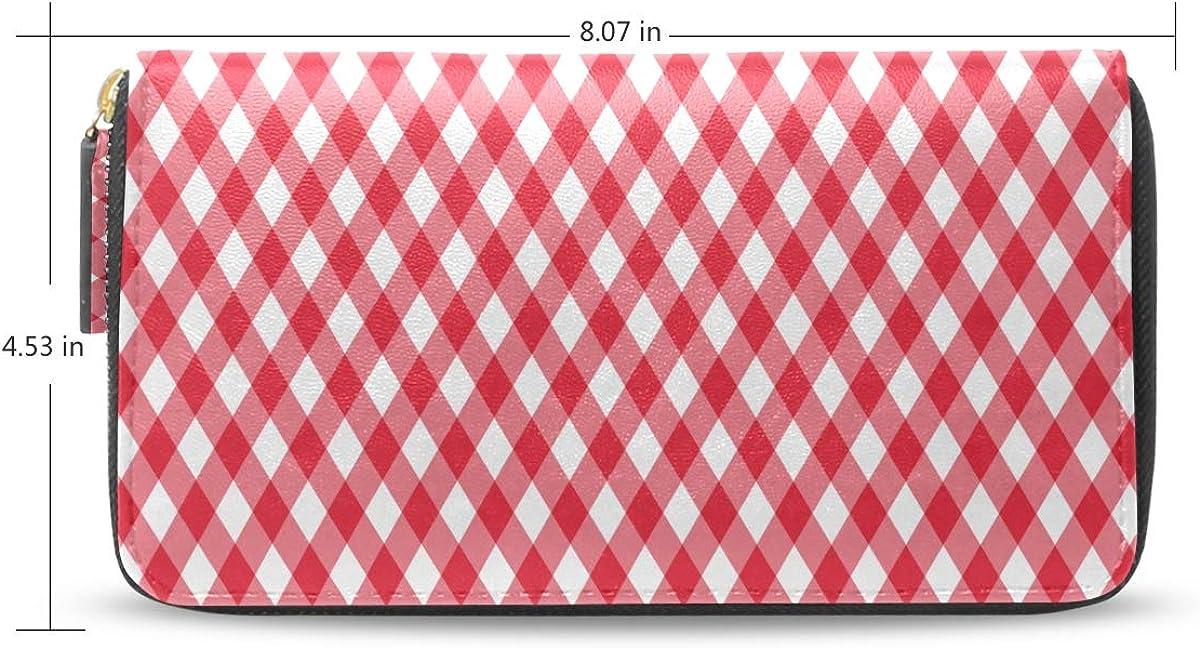 A Wallet For Women Diagonal Red Tablecloth Seamless Pattern Vector Long Passport Clutch Purses Zipper Wallet Case Handbag Money Bag For Lady Women Girl Wallet Zipper