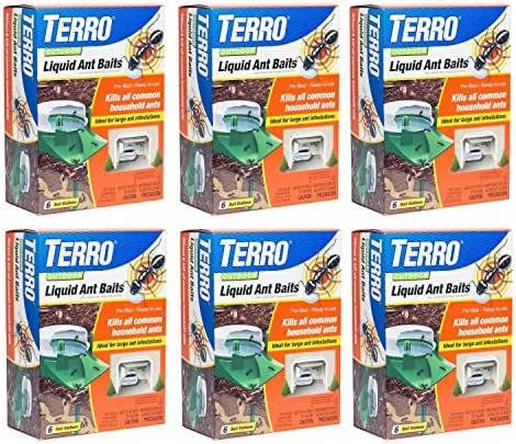 Terro T1806-6 Outdoor Liquid Ant Baits - 6 Pack