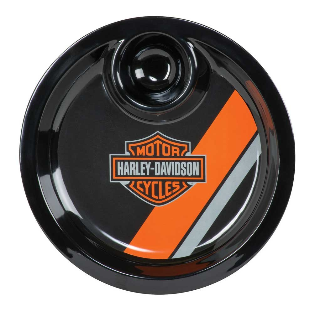Harley-Davidson Bar & Shield Two-IN-One Chip & Dip Tray, Black HDL-18562 Ace Products