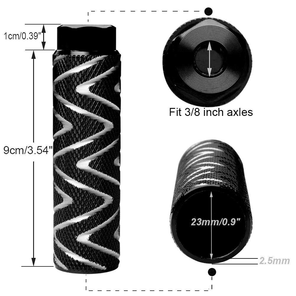 Helaryfreemear BMX-Fu/ßpedal//Peg aus Aluminiumlegierung 2 rutschfest 2 St/ück Schwarz