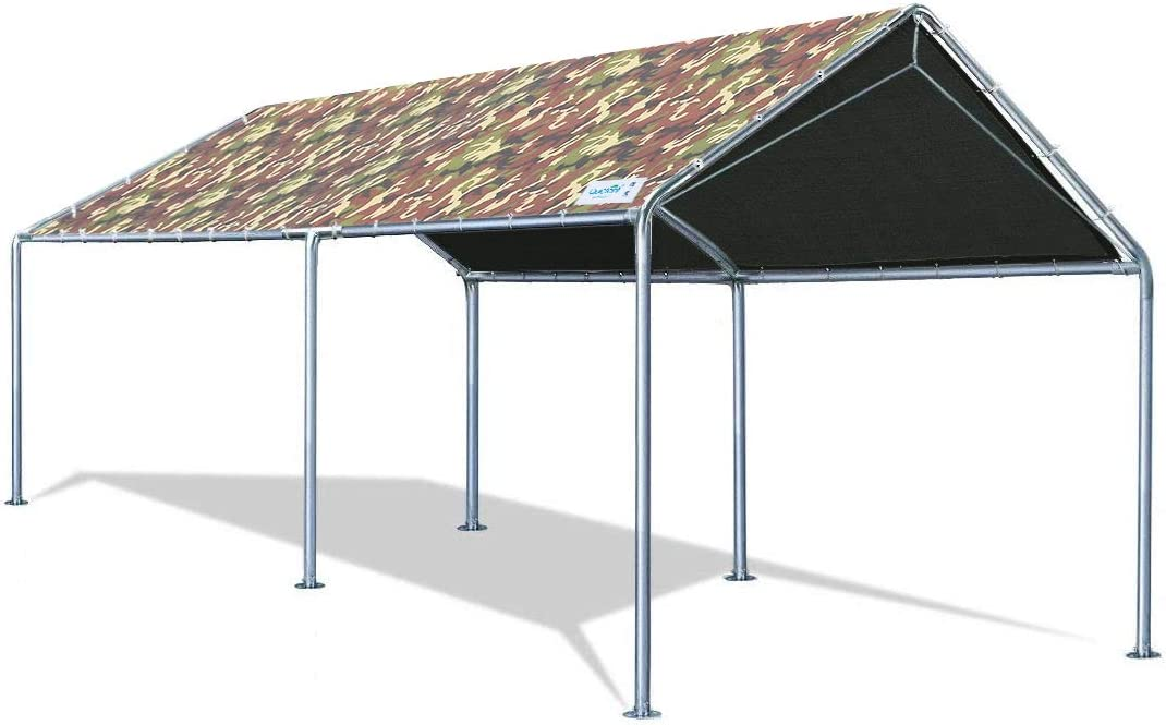 Quictent 10 X20 Upgraded Heavy Duty Carport Car Canopy Party Tent with Reinforced Steel Cables-Camo