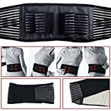 Deluxe Double Pull Magnetic Lumbar Lower Back Support Belt Breathable Brace USA