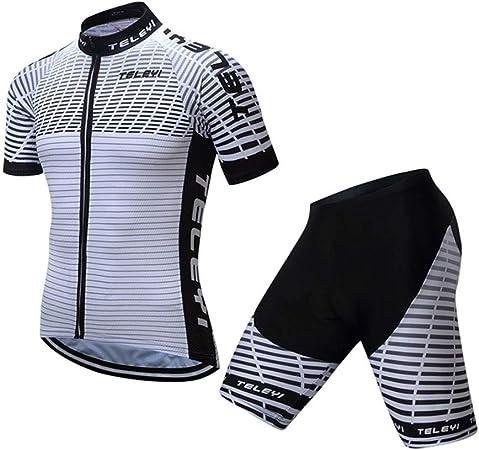 dise/ño de le/ón 3D 3 bolsillos Maillot de ciclismo para hombre manga de licra S-3XL reflectante