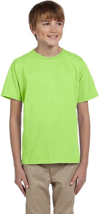 164 Fruit of the Loom Original 5x Kinder T-Shirt Kids T Shirts Kurzarm Grau Gr
