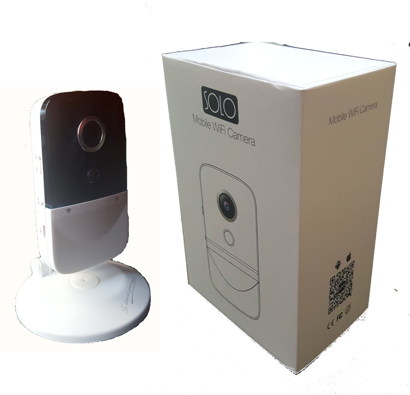 Solotech C330 Wi-Fi Cube Camera, Battery Operated, 720P