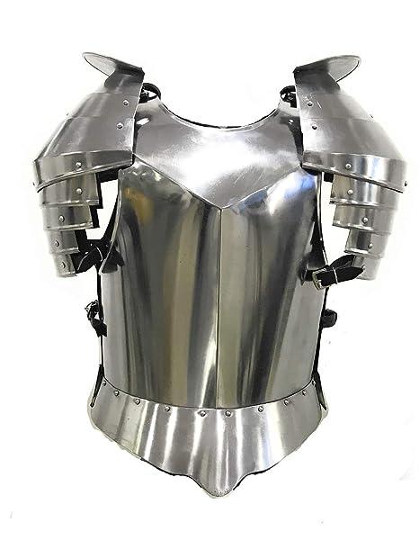 Amazon.com: Tiempos Medievales hombro guardia Acero pectoral ...