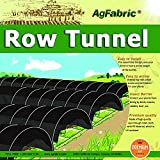 Sunshade Greenhouse Outdoor Row Tunnel with 50% Shade Cloth For Plants,Plant Cover &Frost Blanket for Season Extension and Seed Germination, Medium 10ft Longx 25'' Widex20 High