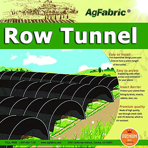Sunshade Greenhouse Outdoor Row Tunnel with 50% Shade Cloth For Plants,Plant Cover &Frost Blanket for Season Extension and Seed Germination, Medium 10ft Longx 25