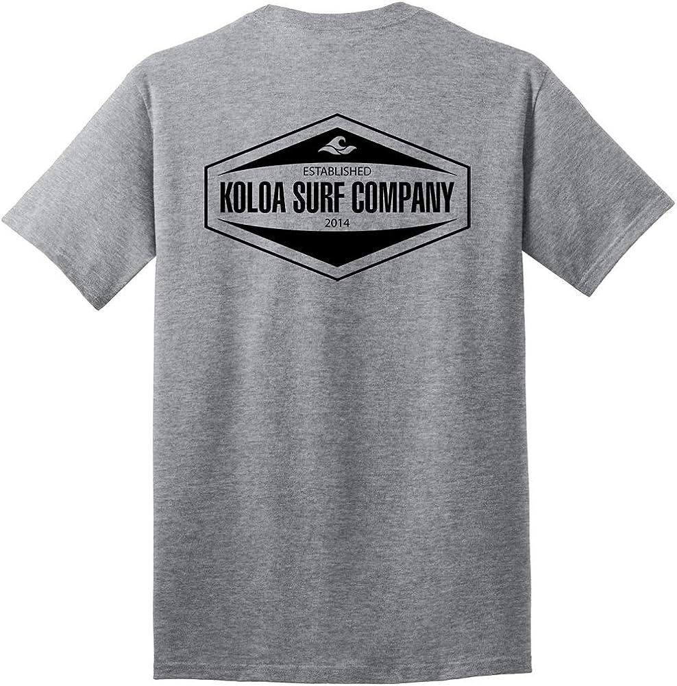 Regular Joes USA Koloa Surf Long Sleeve Hexagon Logo Heavy Cotton T-Shirts Big /& Tall