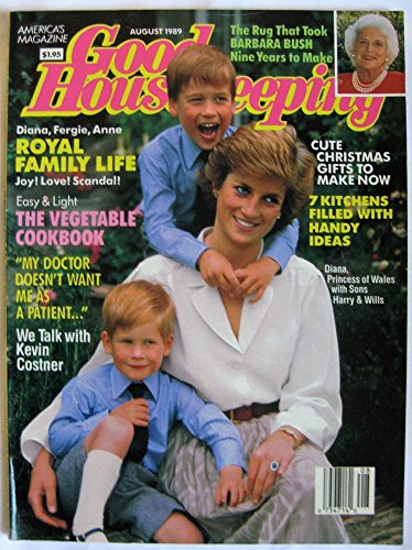 Princess Diana Prince William (Good Housekeeping August 1989 Princess Diana & Prince William & Prince Harry, Victoria Holt Short Novel, Kevin Costner)