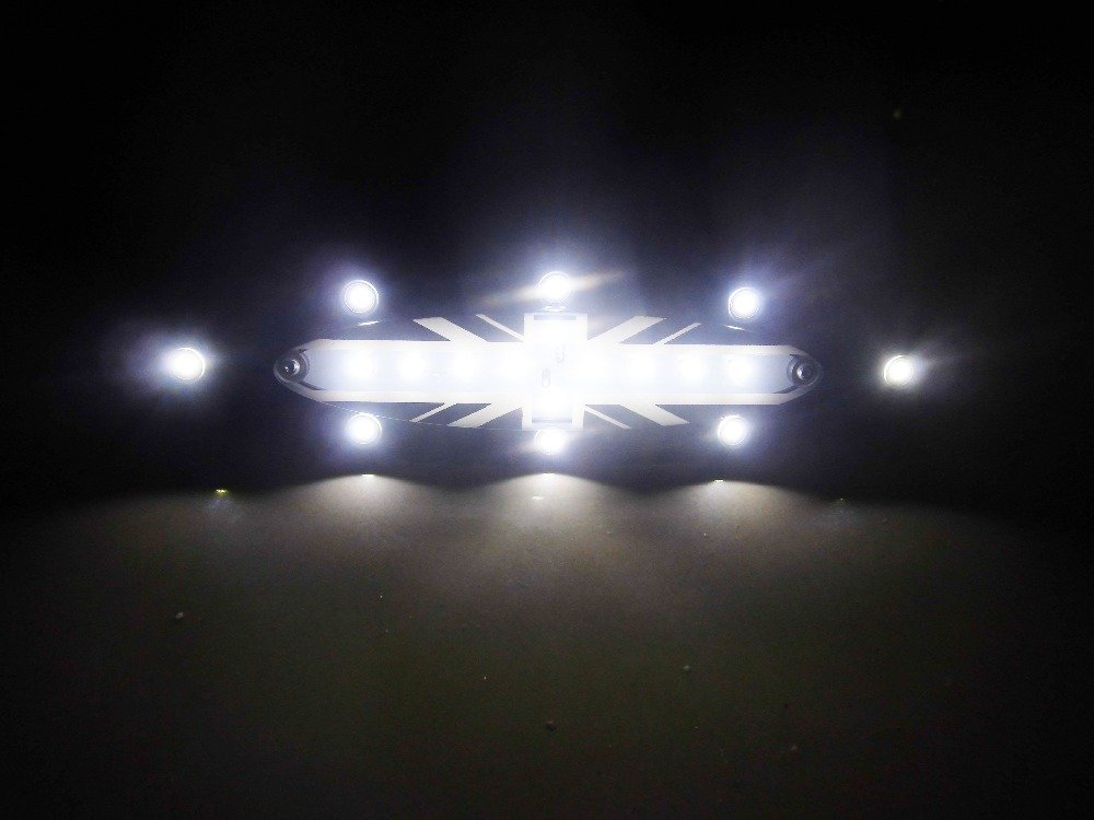 Newsun 1/PC 18/x Blanc Mini LED Int/érieur Toit d/ôme lumi/ère lampe Motif drapeau Union Jack