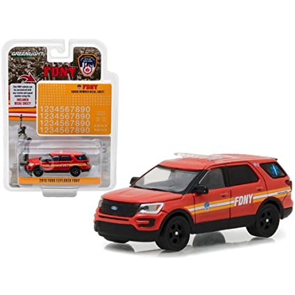 Ford Explorer Fire Department City of New York 2016 GreenLight 1:64 nuevo