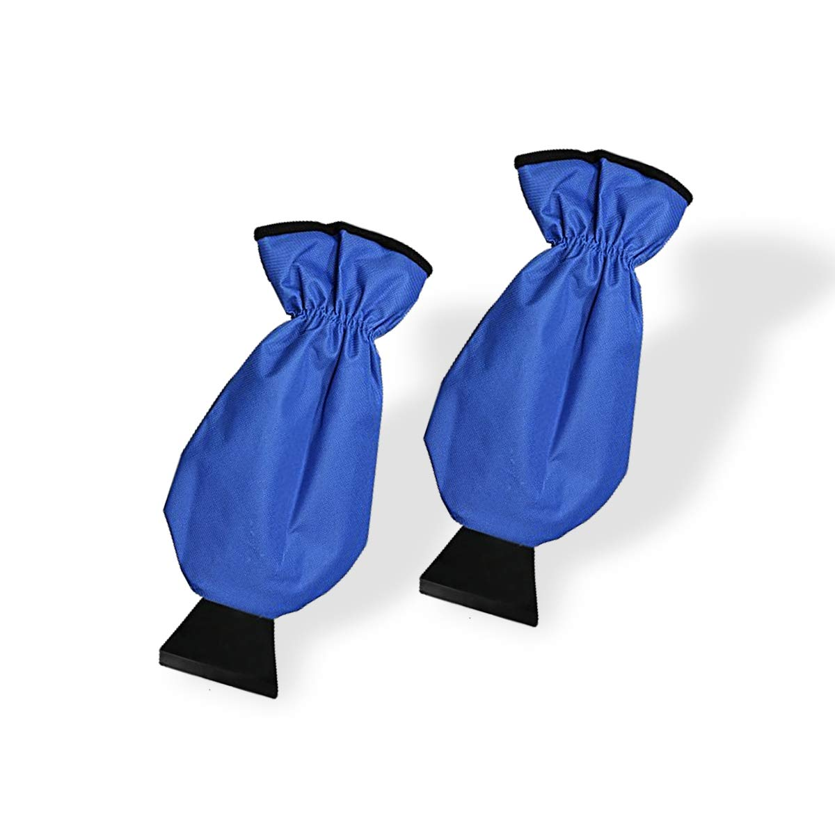 VaygWay Ice Scraper Mitt For Car Windshield Snow Remover and Scrapers Waterproof Glove Blue 2-Pack Custom Autos