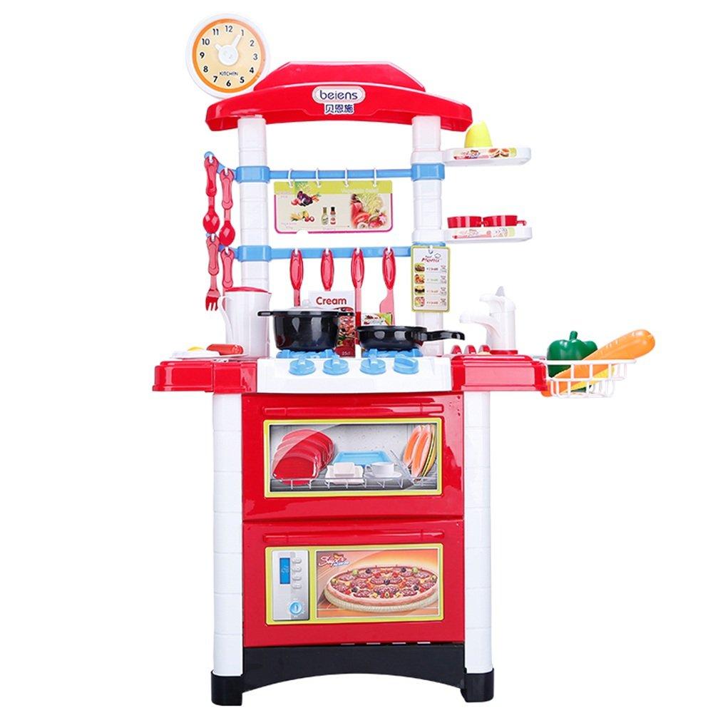 Unbekannt FEI Babyspielzeug 32 PCS Kitchen Play Set mit Lichtern und Sounds enthält mehrere Küchenzubehör Frühe Erziehung