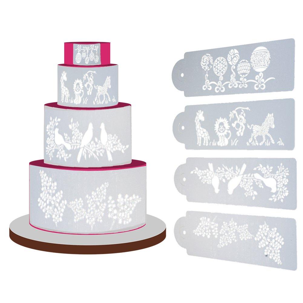 Schablonen Deko Utensilien Matefield 4x Fleur Cake Cookie Fondant côté cuisson Pochoir Mariage Moule Outil