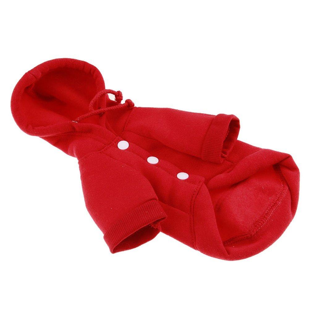 Ndier Winter Chien Mignon Vêtements Chiot Tenue Animal au Chaud Manteau Doux Coton Sweat à Capuche Pull