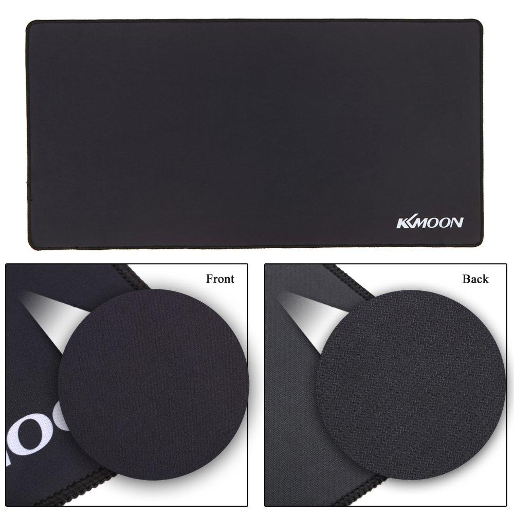 KKmoon 800*300*3mm Large Size Plain Nero Estesa Impermeabile Antiscivolo in Gomma di Velocit/à del Gioco di Gioco dei Mouse del Mouse Pad Desk Mat