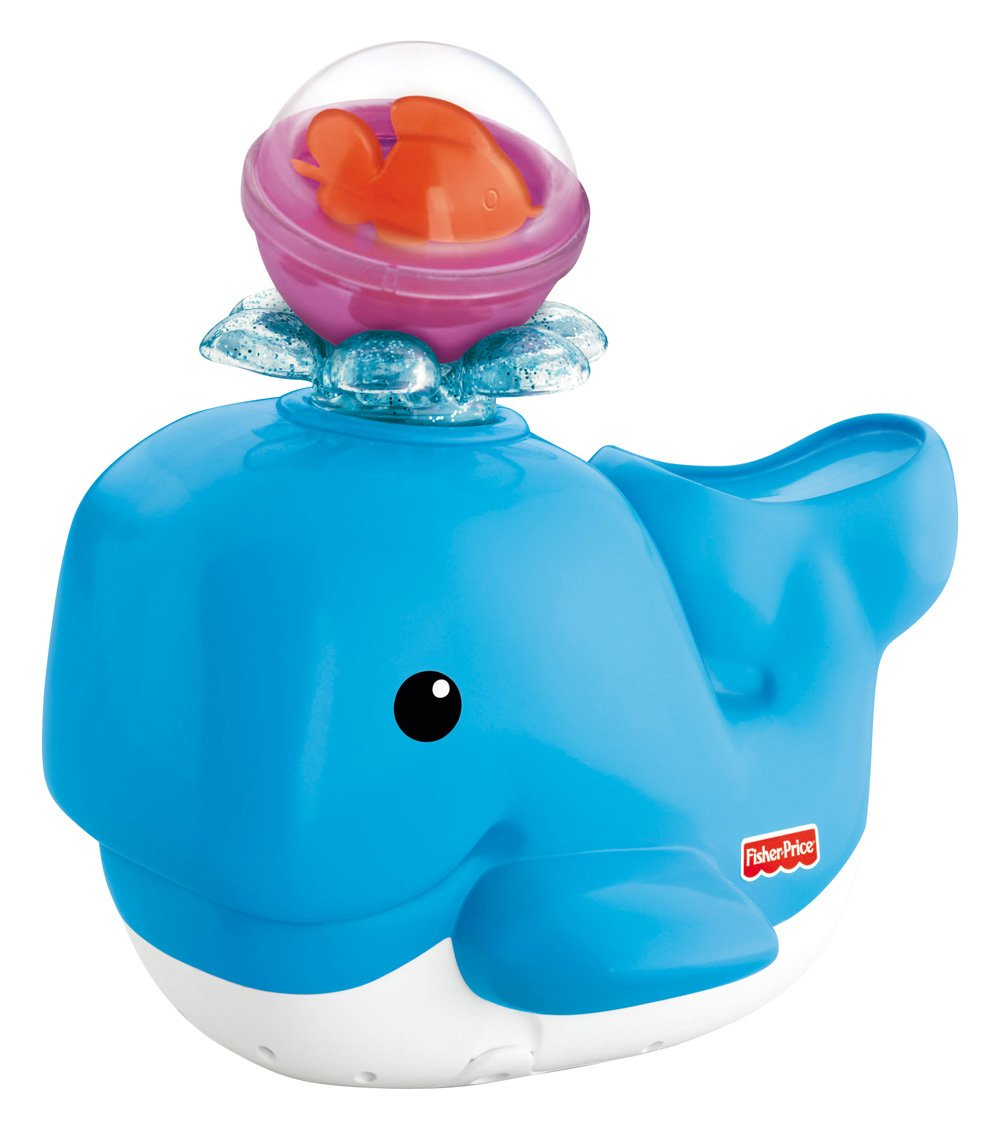 Amazon.com: Fisher-Price Brilliant Basics Spray \'N Lights Bath Whale ...