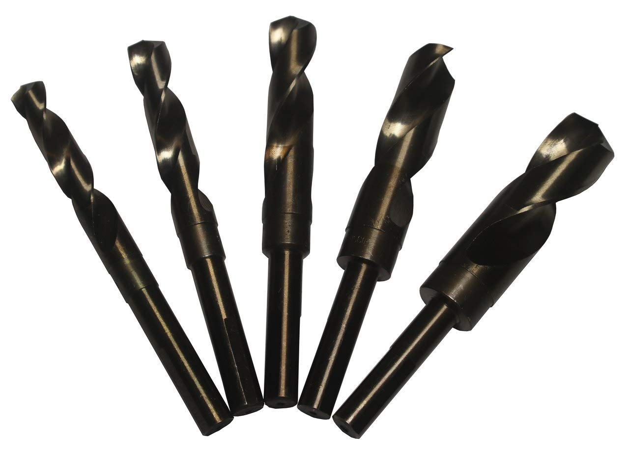 Threaded Shank Drill Bit 135/° Drill Bit Point Angle Drill Bit Size D Cobalt Black Oxide