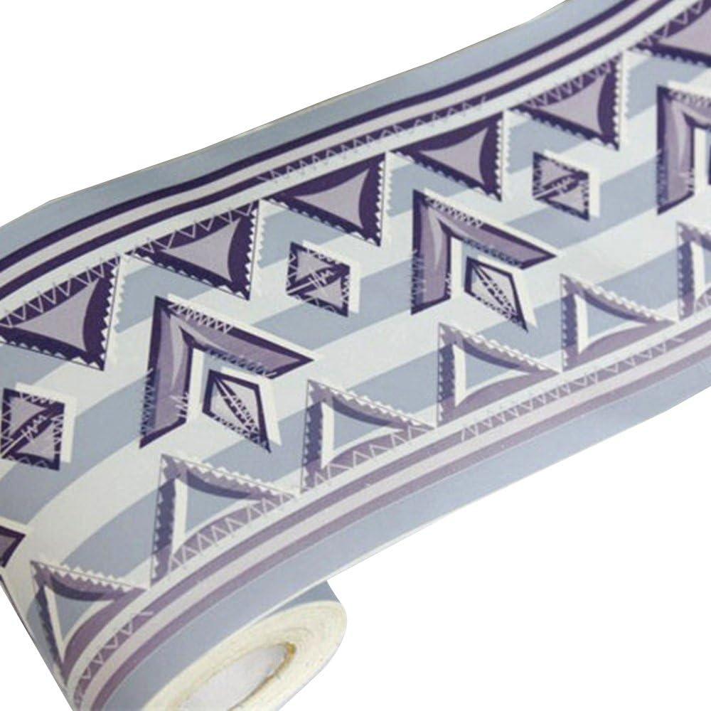 Yifely Boho Style Wallpaper Border Self-Adhesive Waterproof Wall Covering Borders Bathroom Kitchen Tiles Decor Sticker