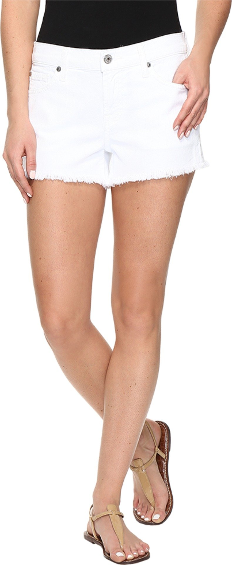7 For All Mankind Women's Cutoff Shorts, Clean White, 27