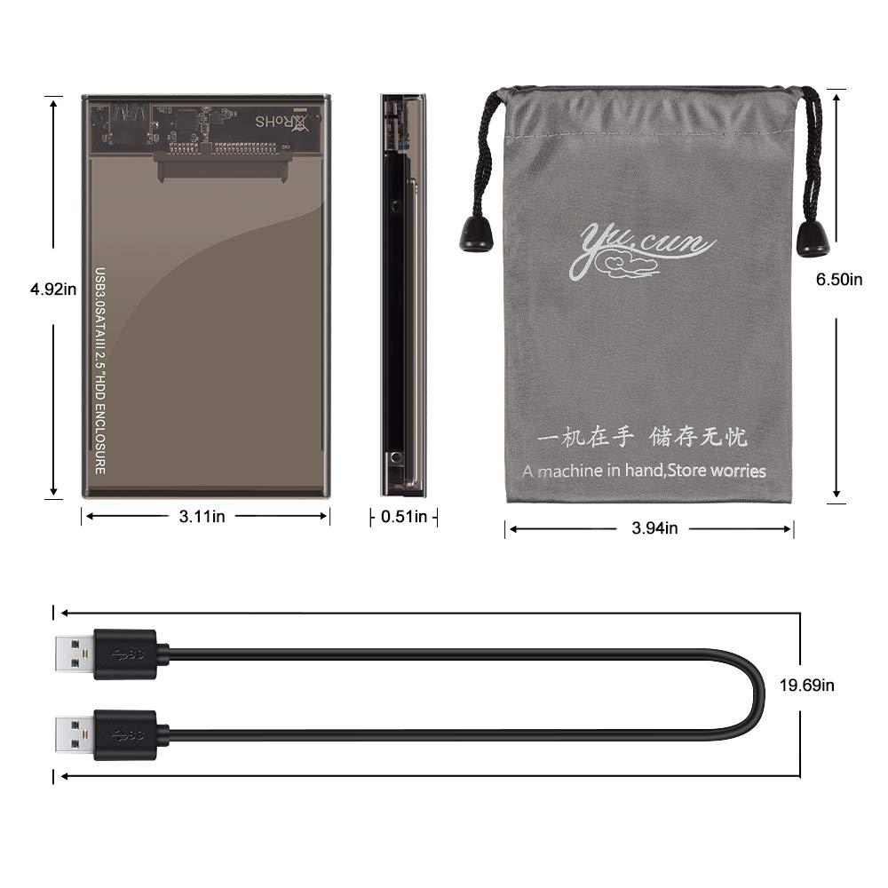 Kycola Hard Drive Enclosure RJ01 USB 3.0 to Hard Drive Disk External Enclosure Case for 2.5 Inch/3.5 Inch SATA I/II/III/HDD 10TB Support UASP(Black) (RJ01, Black) (RJ02-A, RJ02-A/Black) by Kycola (Image #7)